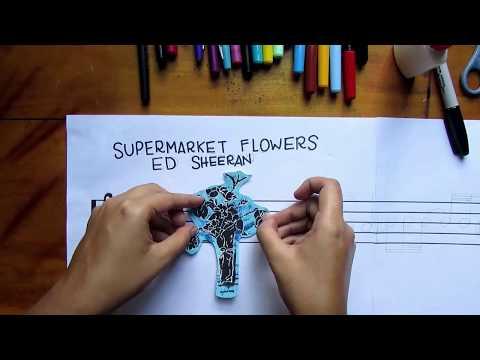 MUSIC PAINTING - Supermarket Flowers - Ed Sheeran