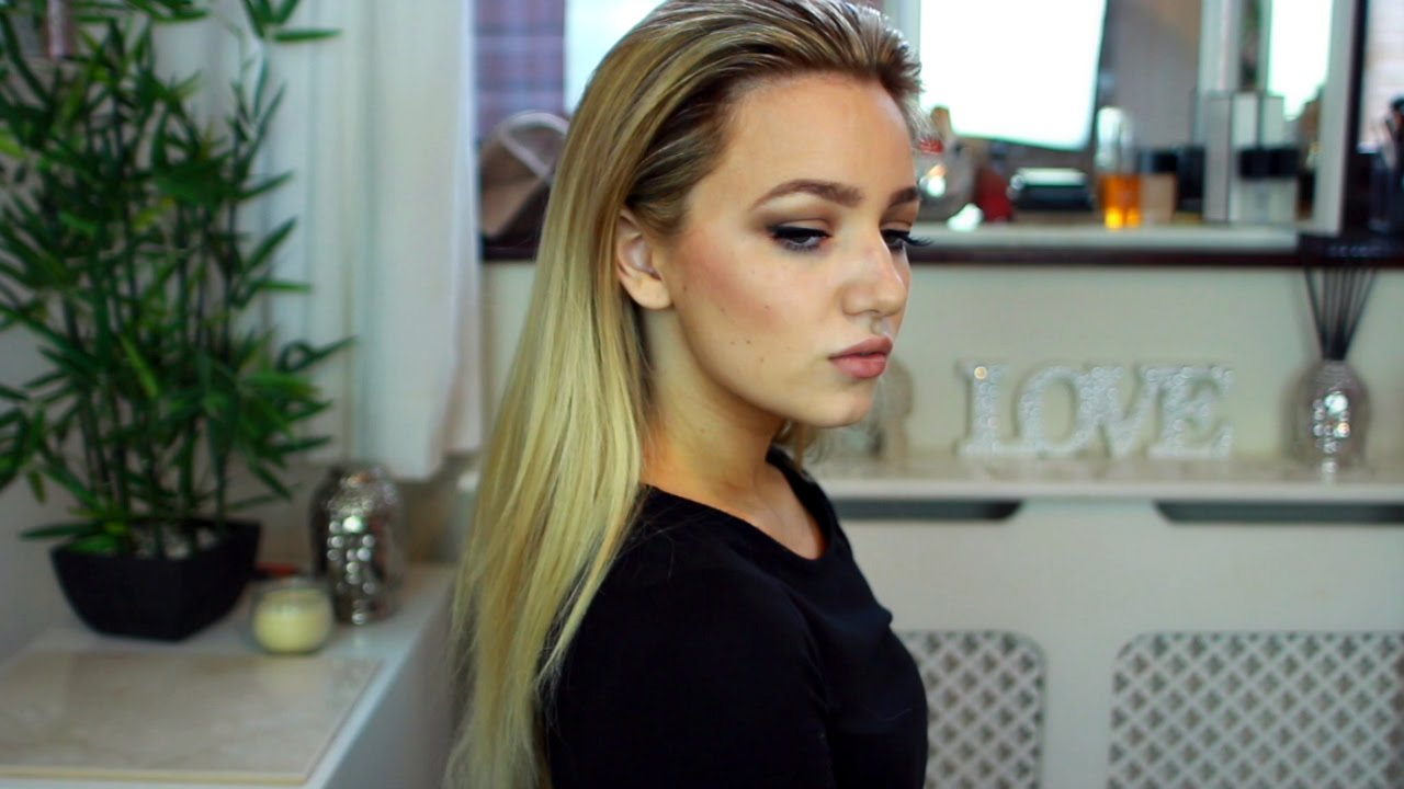 How To Gigi Hadid Slicked Back Look With Hair Extensions Youtube