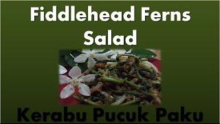 Kerabu Pucuk Paku / Fiddlehead Fern Salad