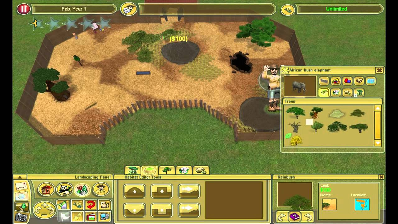 Zoo Tycoon 2 African Elephant Exhibit Youtube