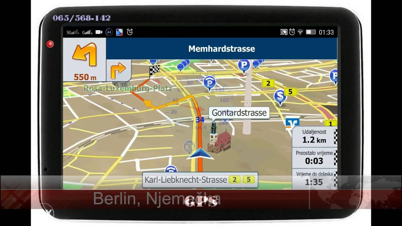Gps Navigacija Voznja Kroz Berlin Njemacka Youtube