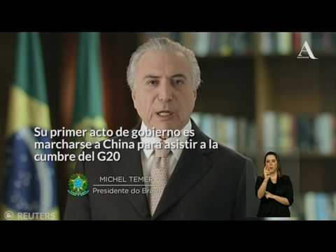 "Temer, nuevo presidente de Brasil; ""golpe de Estado"": Rousseff"