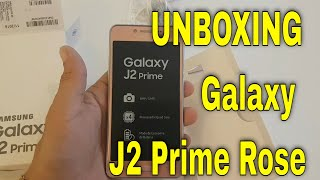 unboxing galaxy j2 prime rose