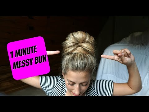 Easy Messy Bun Tutorial - Top Knot How-To