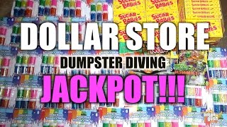 Dumpster Diving Jackpot At Dollar Store - Brand New Stuff! | OmarGoshTV