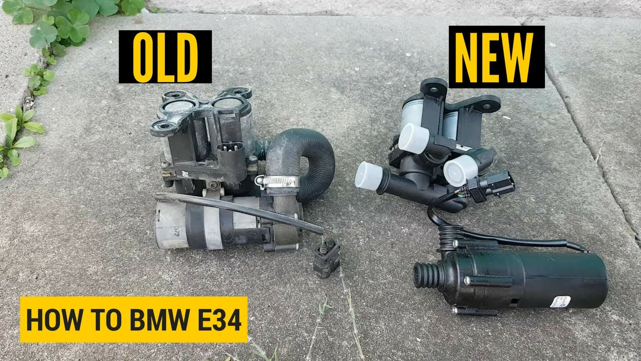 how to replace the heater valve and auxiliary water pump bmw e34 [ 1280 x 720 Pixel ]