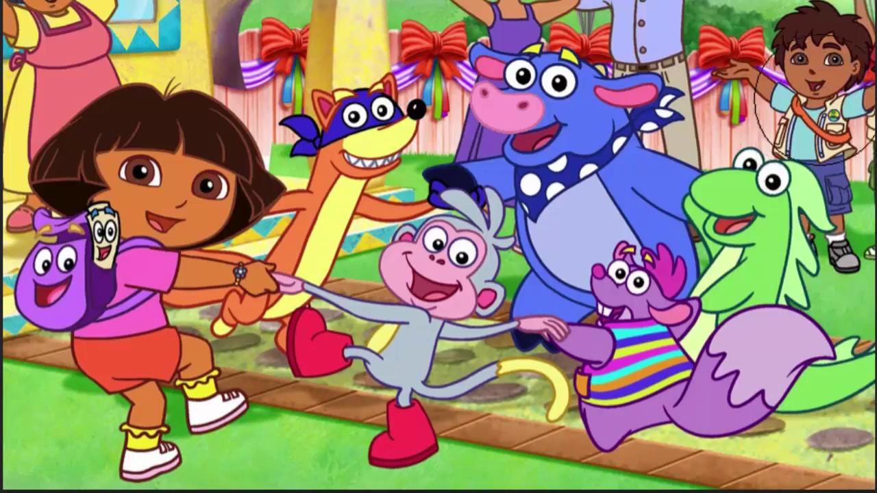 coloring dora & friends  learn color  dora & friends