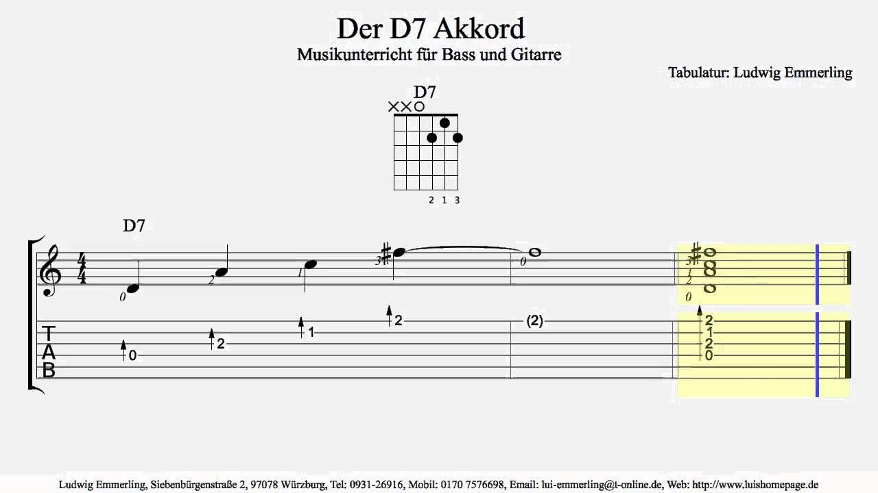 D7 chord der d7 akkord youtube d7 chord der d7 akkord hexwebz Images