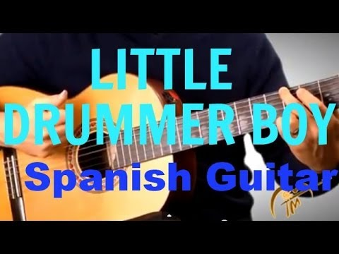 little drummer boy flamenco spanish guitar version of classic christmas song jam along