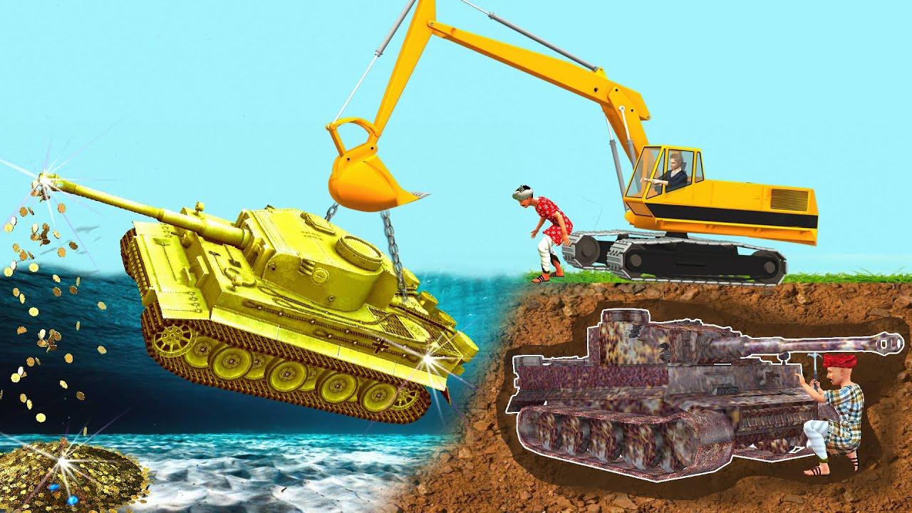 భూగర్భ యుద్ధ ట్యాంక్ పునరుద్ధరణ Underground Wartank Restoration Stories Telugu Kathalu Moral Stories
