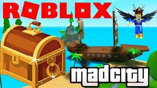 Roblox Mad City (How To Play/easy) + We Found the Pirate Ship & Opened the Treasure Chest!