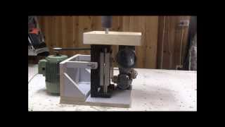 Shop Made Oscillating Spindle Sander. Dry Run