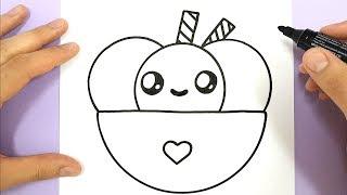 ice cream draw drawings kawaii happy heart bowl easy panda drawing descargar dibujar helado mp3 unicorn