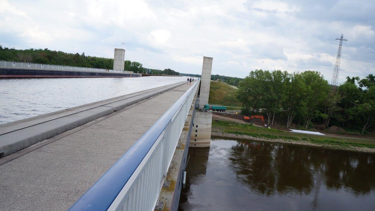 Magdeburg Water Bridge. Магдебургский водный мост.