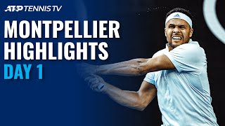 Tsonga takes on Korda; Sonego & Gaston clash | Montpellier 2021 Highlights Day 1