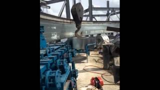 the process of grain storage,  farm silo for corn storage in Zambia