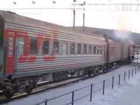 Отправление поезда №77 Нерюнгри-Новосибирск ст.Тында