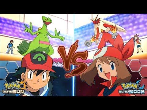 Pokemon Battle USUM: Ash Vs May (May Vs Ash Hoenn)