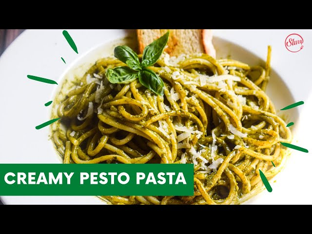 Creamy Pesto Pasta | Spaghetti With Pesto Sauce