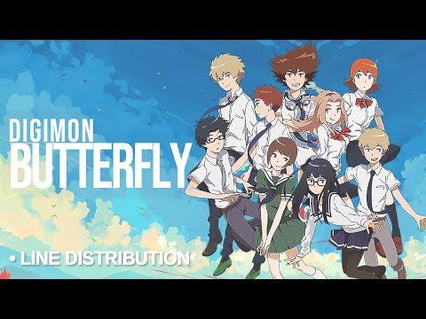 DIGIMON ALL CAST「Butterfly」Line Distribution (Color Coded) - Bokura No Mirai final version