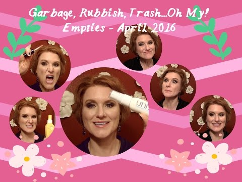 Garbage, Rubbish, Trash! Oh My!  Empties - April 2016. Check out the products I've used up