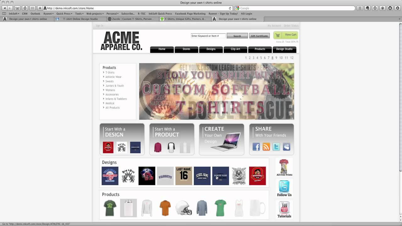 Design your t shirt software - Inksoft Online Tshirt Design Software Overview Pt 1