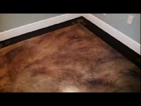 Painted Basement Floor  Faux Finish  YouTube