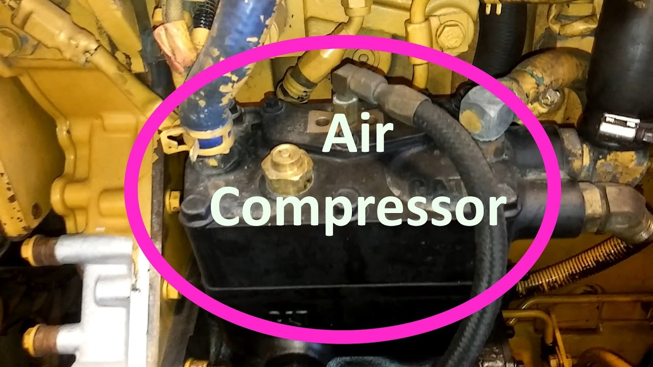 how to change your cat air compressor remove and install air compressor youtube Kenworth T800 Kenworth W990