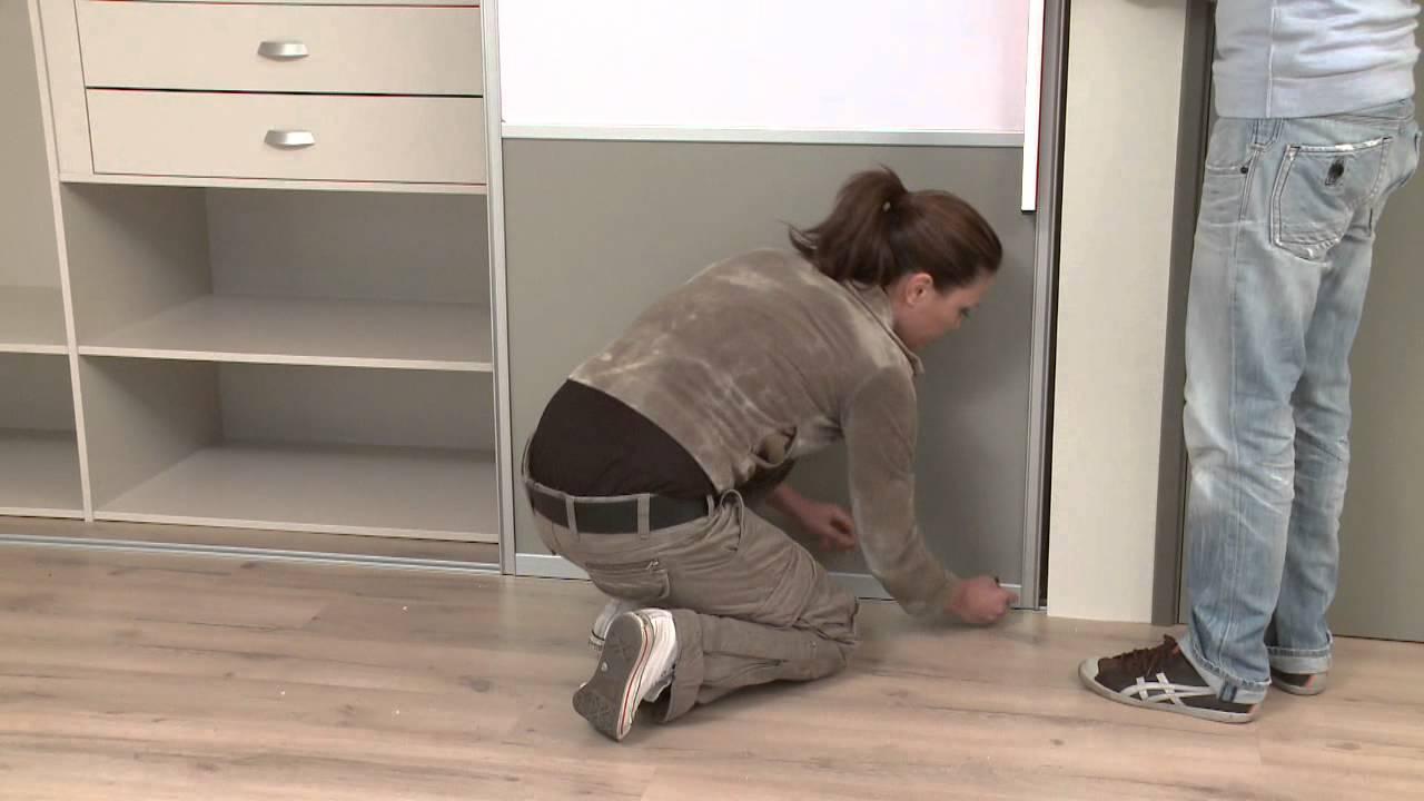 Kast Met Schuifdeuren : Het plaatsen van op maat gemaakte storemax schuifdeuren youtube