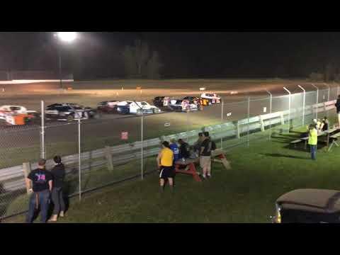 Silver Bullet Speedway 6/29/2019 IMCA Modified Feature Race No Excuses Racing Garrett Bennett Bill Endert Jon Endert Jason Begeman. - dirt track racing video image