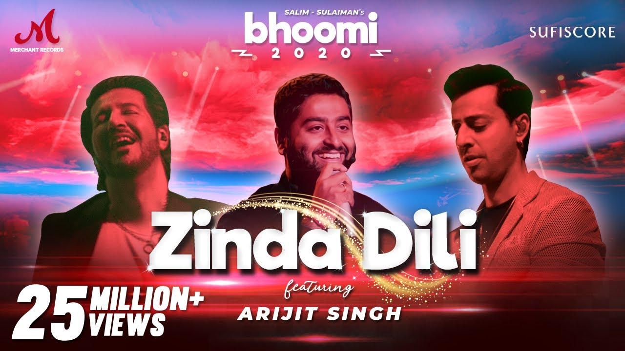 Download Zinda Dili - Arijit Singh | Salim Sulaiman  | Bhoomi 2020 | Sufiscore | Merchant Rec| New Song Video