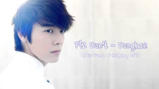 Plz Don't - Donghae (Miss Panda & Hedgehog OST) + MP3 DL LINK