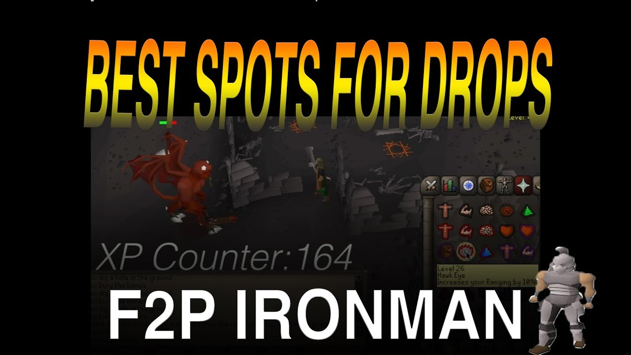 BEST SPOTS For Drops (F2p Ironman Guide