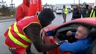 Grève des routiers à Corbas