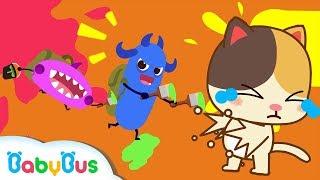 ★NEW★可怕的細菌在追小貓咪,快來救救小貓咪 | 衛生習慣兒歌 | 童謠 | 動畫 | 卡通 | 寶寶巴士 | 奇奇 | 妙妙