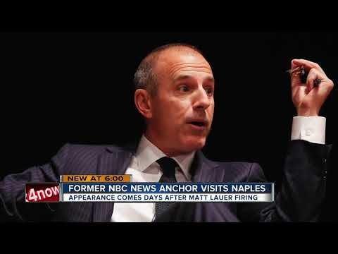Ann Curry speaks in Naples 2 days after Matt Lauer fired from NBC