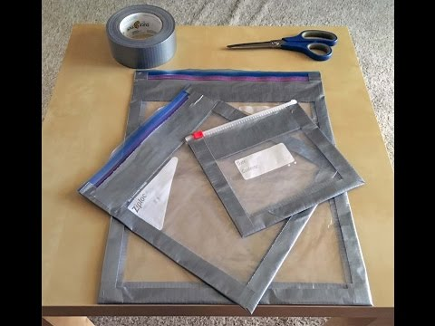 DIY Ziploc Reinforced Packing Cube for Ultralight Backpacking and Travel Hack