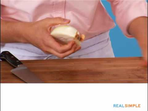 Real Simple How To: Peel and Chop an Onion