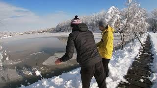 Ловля трофейного сома на Кубани Руки трясутся от этой рыбы Рыбалка на джиг зимой