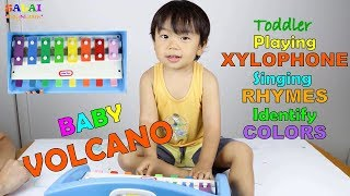 Toddler singing ryhmes with xylophone|Toddler learning videos|2-3 year old learning activity