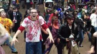 Michael Jackson Thriller Zombie dance Vancouver flash-mob 2012