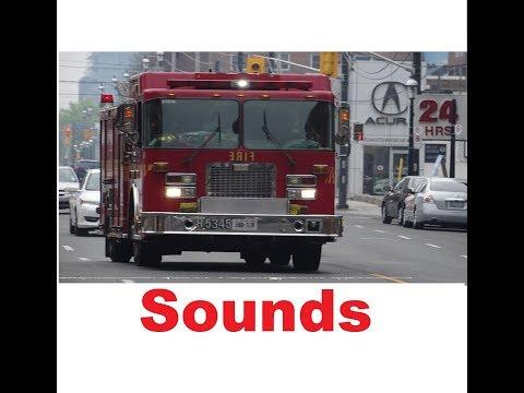Fire Truck Siren Sound Effects All Sounds