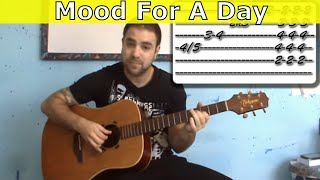 Tutorial: Mood For A Day - Fingerstyle Guitar w/ TAB (Steve Howe)