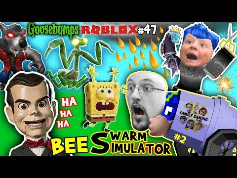 GOOSEBUMPS vs. Spongebob in ROBLOX + FORTNITE helps Chase in BEE SWARM SIMULATOR Again Pt.2 (#47)