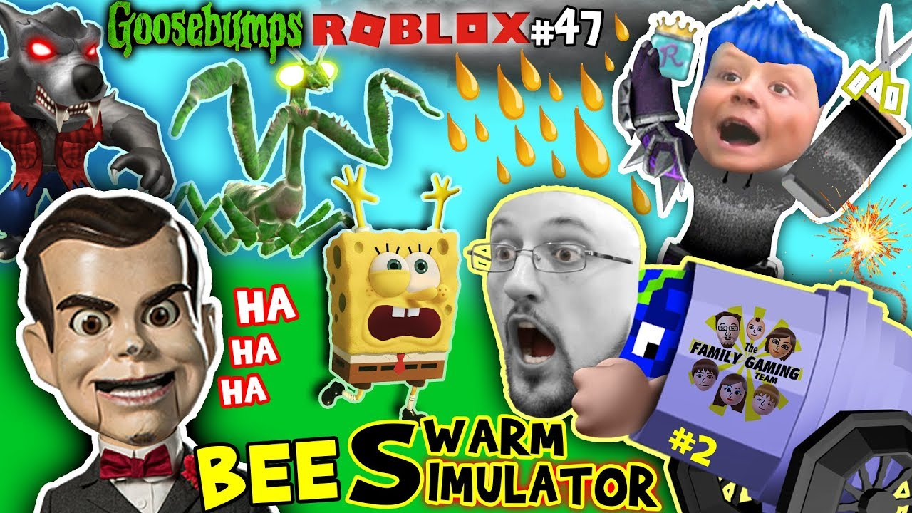 Goosebumps Vs Spongebob In Roblox Fortnite Helps Chase In Bee