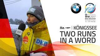 Two Runs in a word | Day 01 | BMW IBSF World Championships 2017