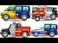 Kids Games Match Play Vehicles : Police car, Fire Truck, Ambulance, Trucks, Excavator