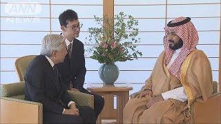 天皇陛下が来日しているサウジアラビアの副皇太子(31)と懇談されまし...