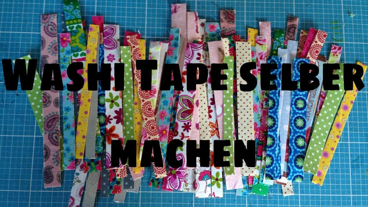 washi tape selber machen 2 varianten youtube