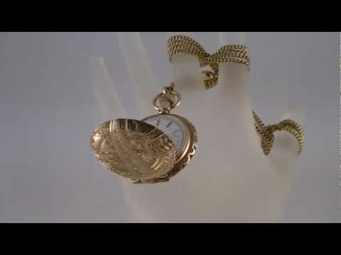 Antique ELGIN 1895 Hunting Case Pendant Pocket Watch 14k Gold W/ 14k Chain